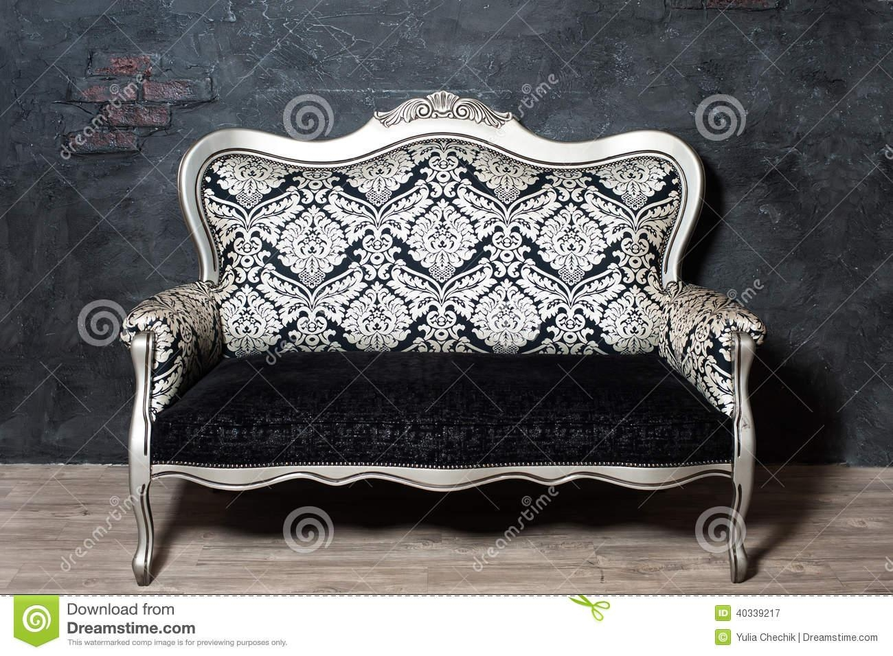 Old Fashioned Sofa Stock Photo – Image: 40339217 Within Old Fashioned Sofas (View 5 of 20)