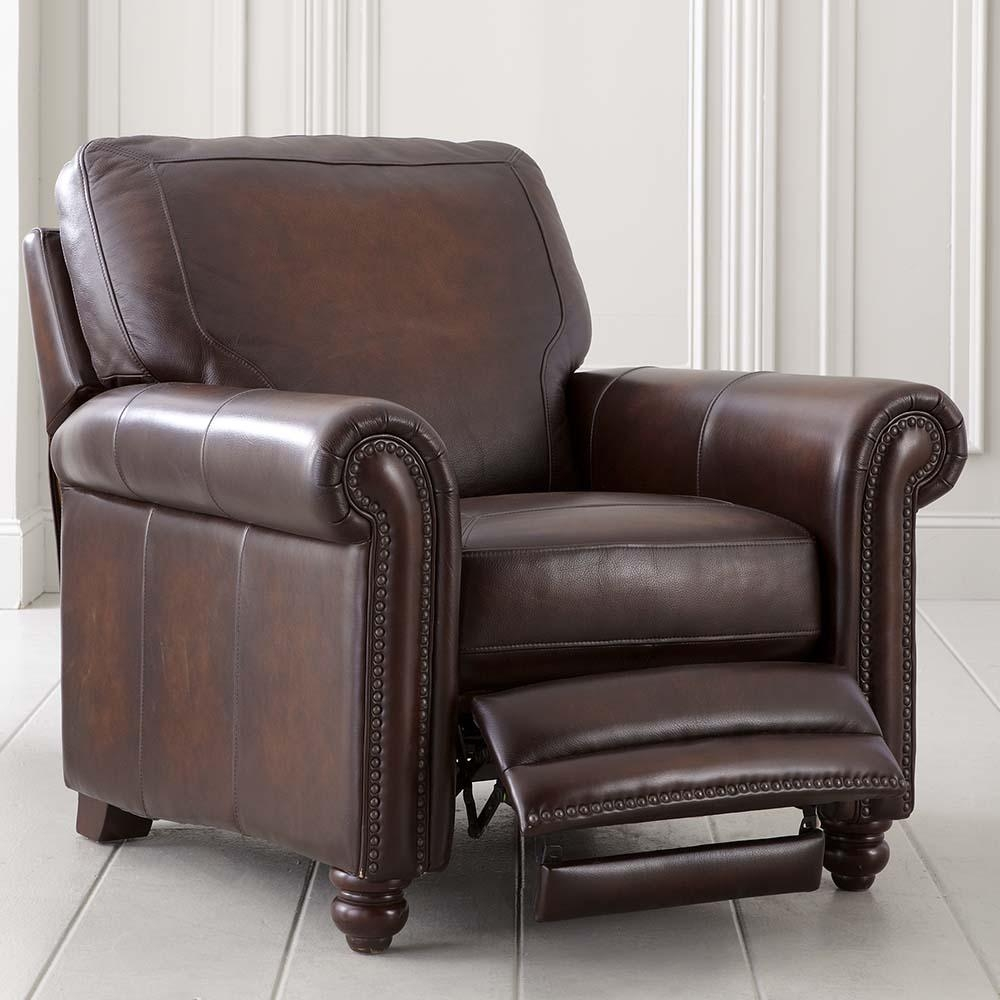 Old World Brown Leather Recliner For Sofa Chair Recliner (Image 13 of 20)