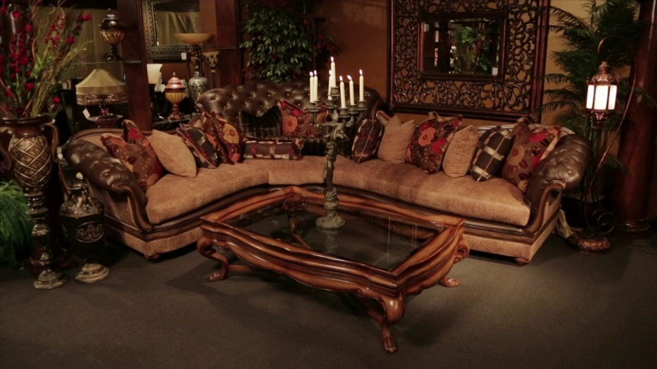 Old World Sectional Sofa | High End Furniture | Travilion Leather Intended For High End Leather Sectionals (View 2 of 20)