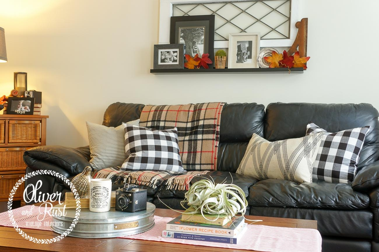 Oliver And Rust: Couch Series: Vintage Traditional On The Black Regarding Buffalo Check Sofas (View 14 of 20)
