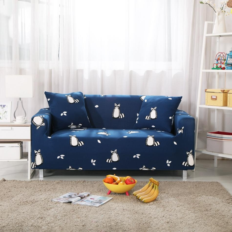 Online Get Cheap Blue Couch Slipcover  Aliexpress | Alibaba Group For Navy Blue Slipcovers (Image 13 of 20)