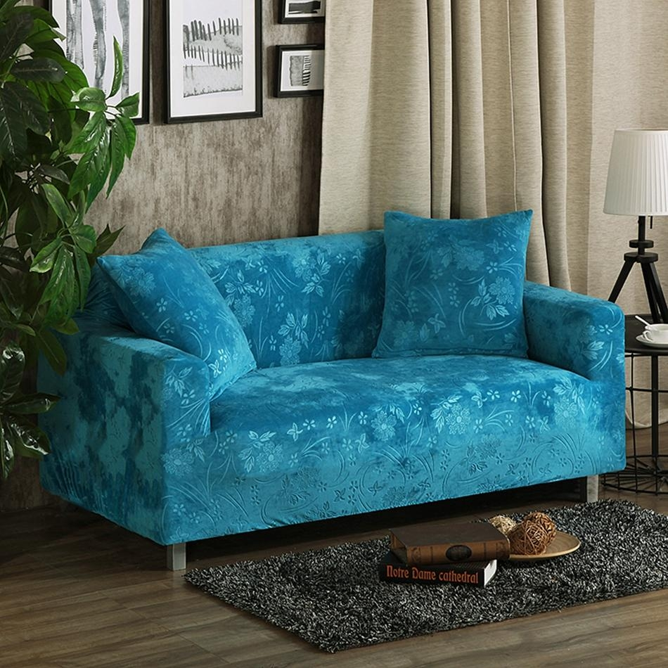 Online Get Cheap Fitted Sofa Covers  Aliexpress | Alibaba Group With Regard To Teal Sofa Slipcovers (Image 11 of 20)