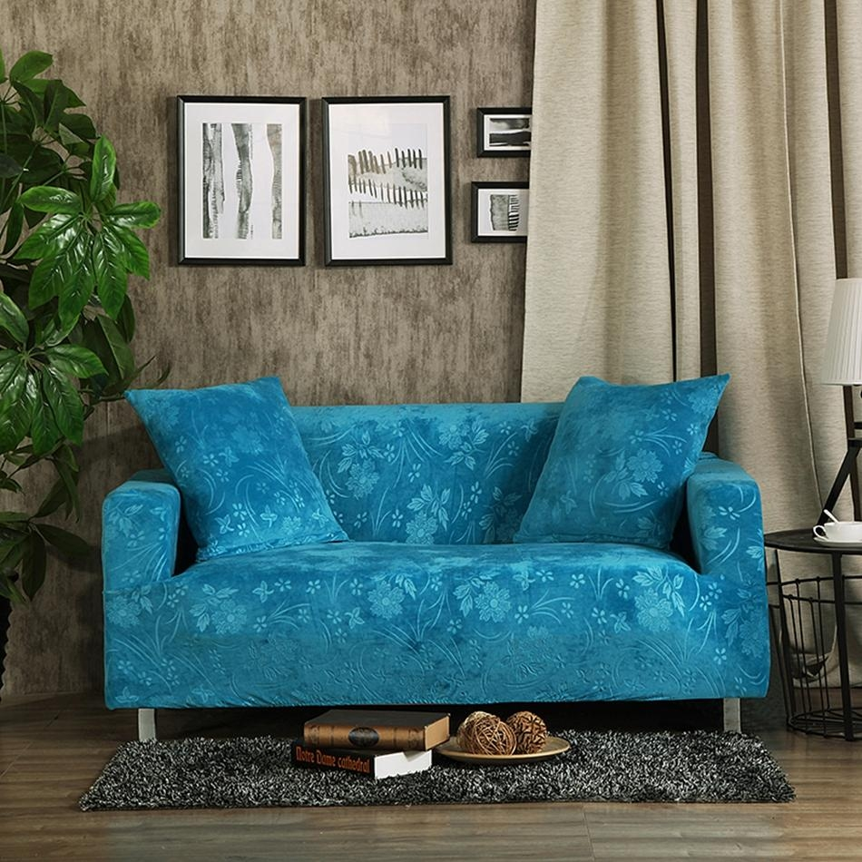 Online Get Cheap Sofa Couch Covers  Aliexpress | Alibaba Group Pertaining To Turquoise Sofa Covers (Image 16 of 20)