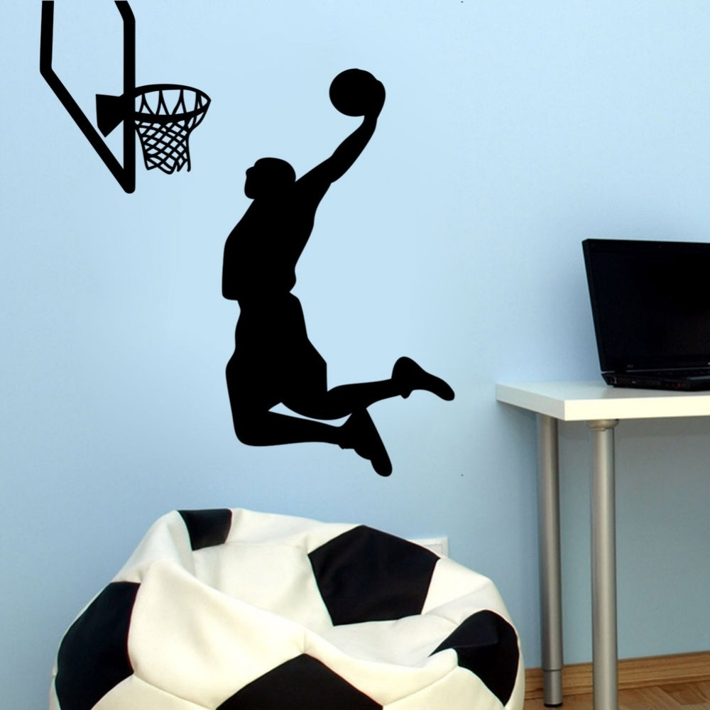 Online Get Cheap Sports Wall Sticker Basketball Nba  Aliexpress Intended For Sports Wall Decals (Image 4 of 9)