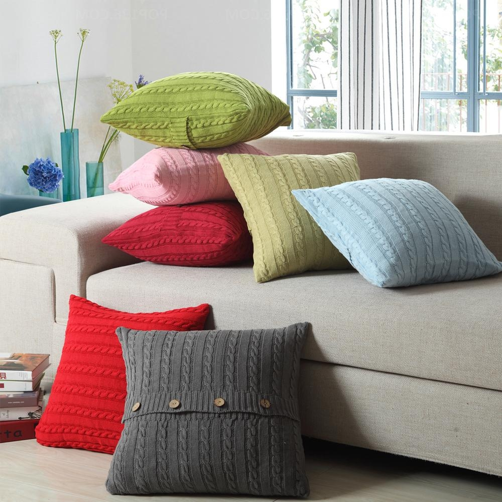 Online Get Cheap Wool Pillow Covers  Aliexpress | Alibaba Group Inside Sofa Cushion Covers (Image 10 of 20)