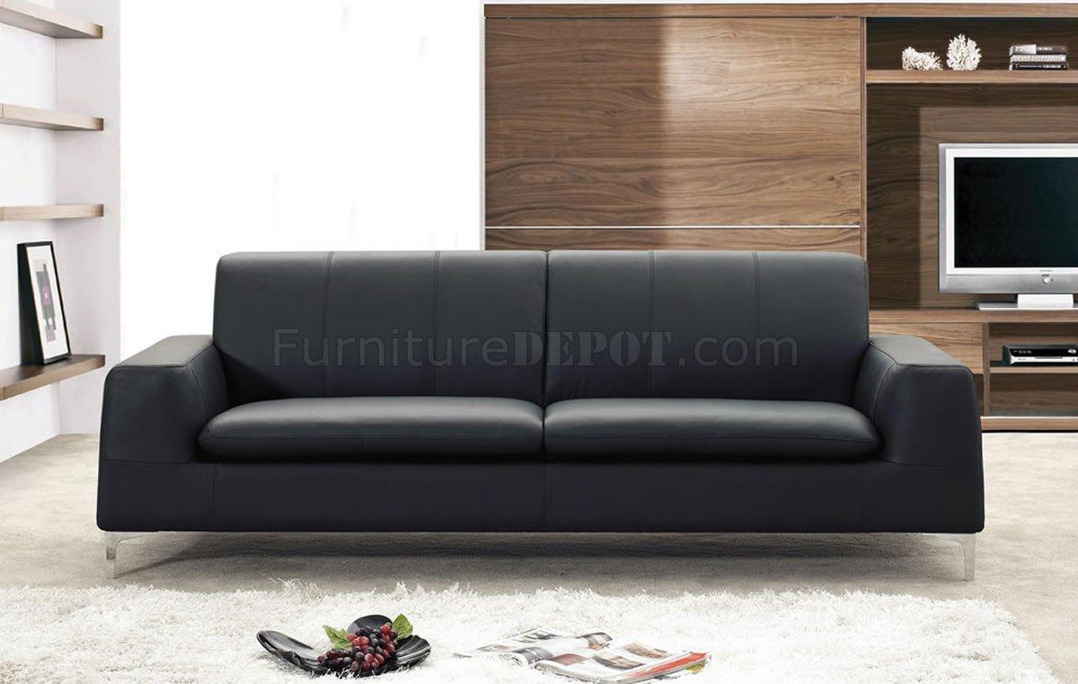 Or White Leather Contemporary Sofa Regarding Contemporary Black Leather Sofas (View 2 of 20)