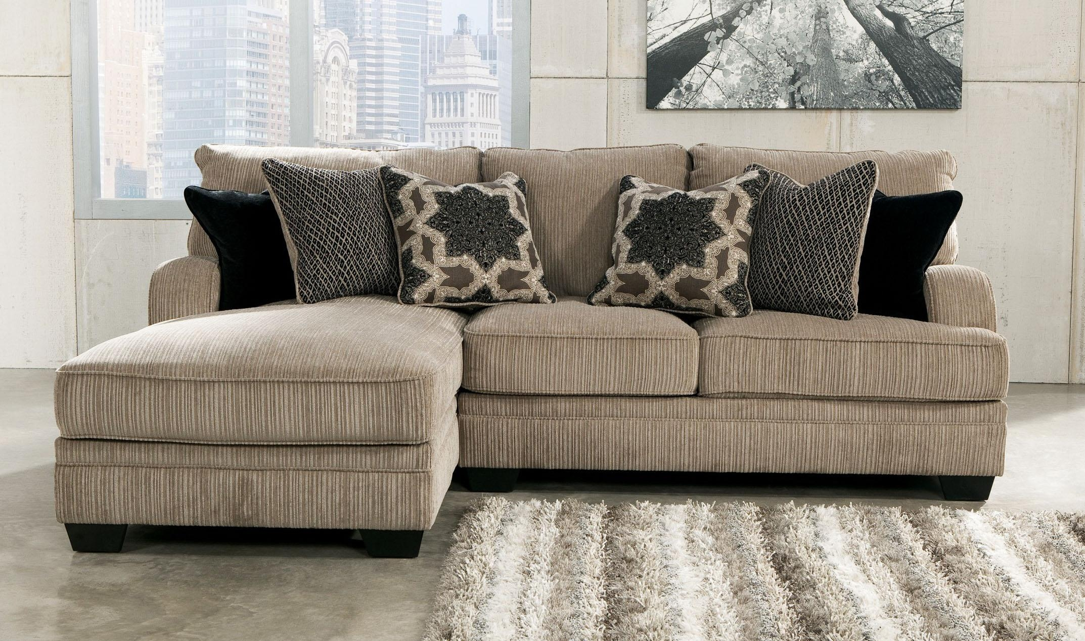 Orange Leather Sectional Sofa With Chaise Lounge Added Three Regarding Small Sofas With Chaise Lounge (Image 7 of 20)