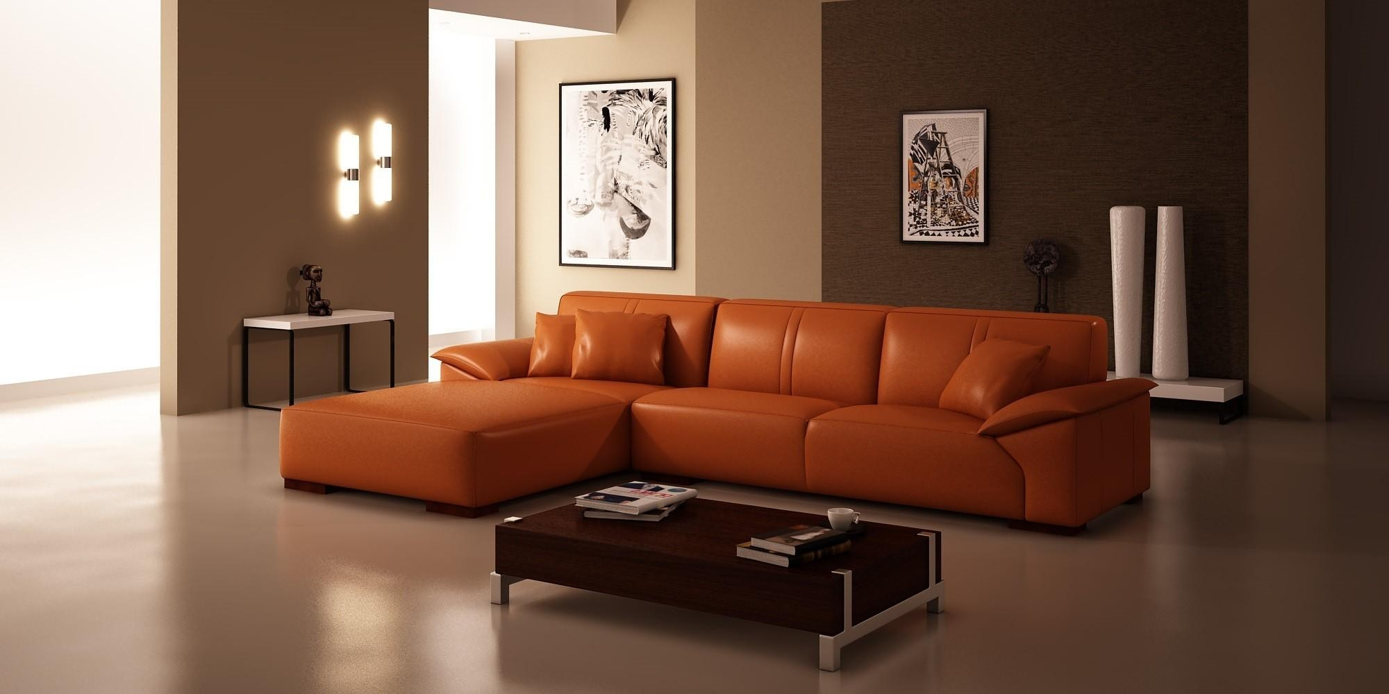 Orange Leather Sofa And Loveseat | Tehranmix Decoration In Burnt Orange Leather Sofas (Image 7 of 20)