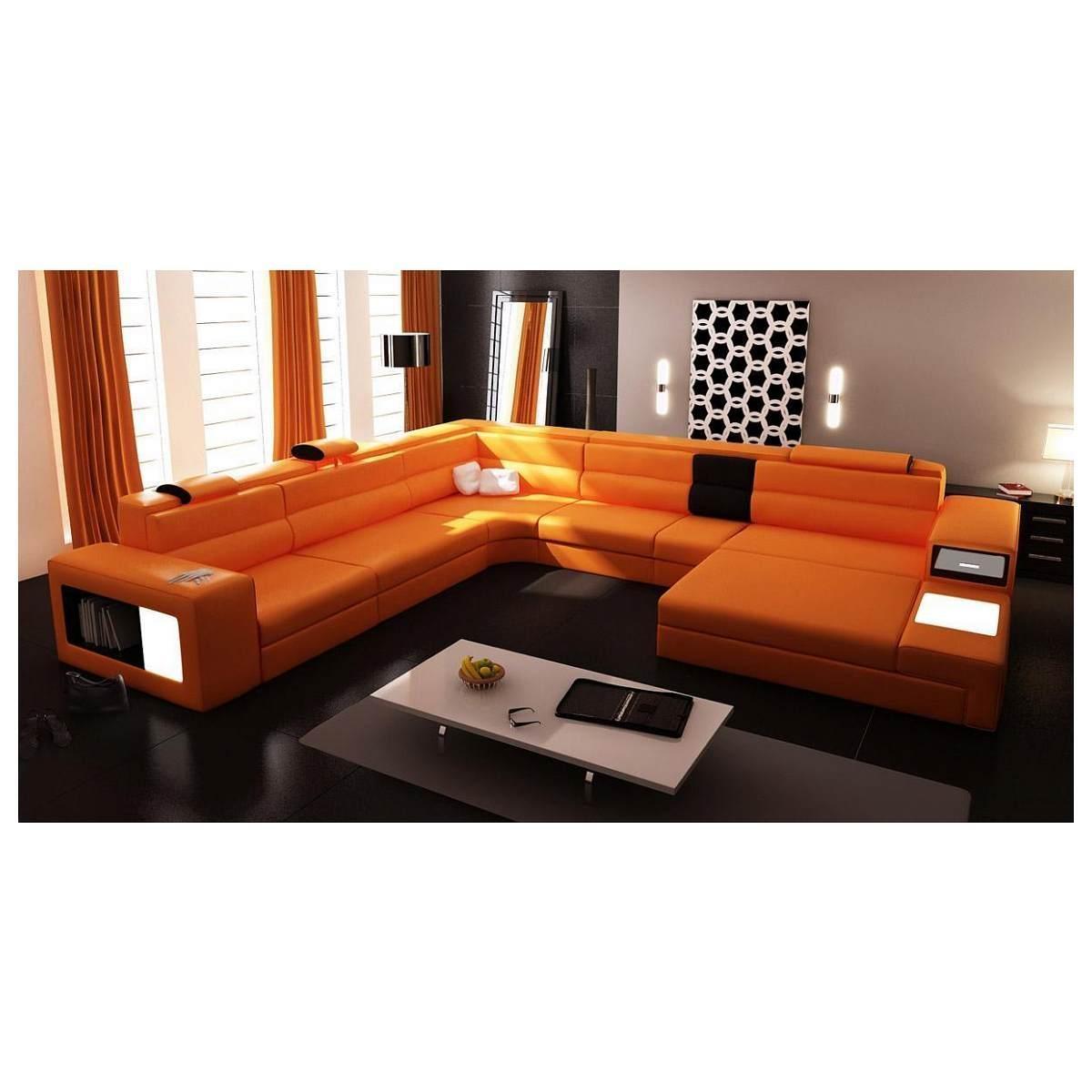 Orange Leather Sofa Nz | Tehranmix Decoration Inside Burnt Orange Leather Sofas (Image 10 of 20)