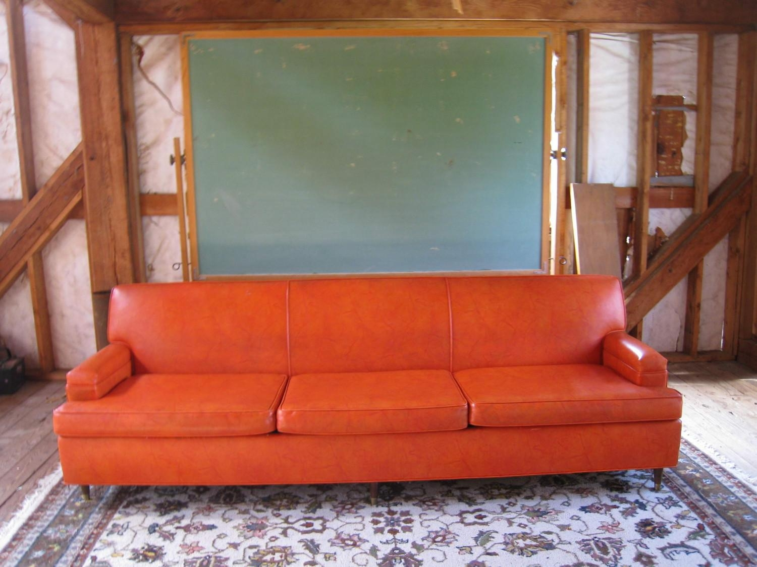 Orange Leather Sofa Sale | Tehranmix Decoration With Burnt Orange Leather Sofas (Image 11 of 20)