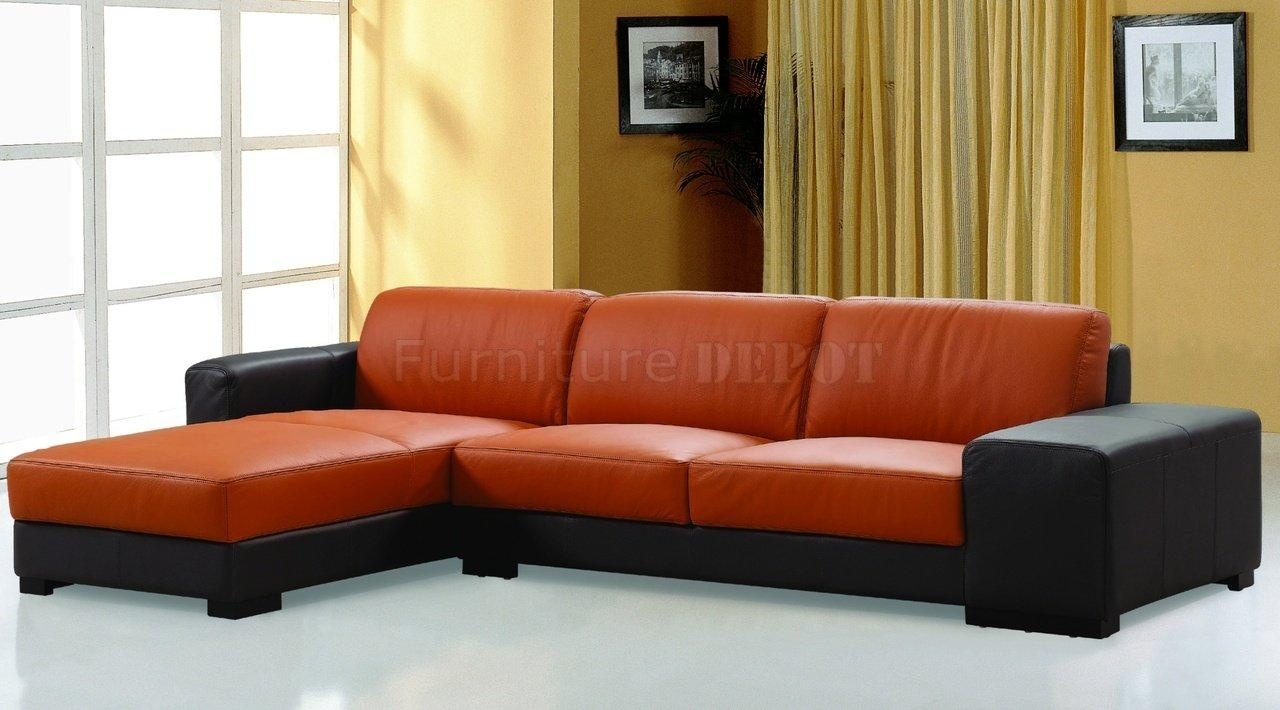 Orange Leather Sofa | Sofa Gallery | Kengire With Burnt Orange Leather Sofas (View 5 of 20)