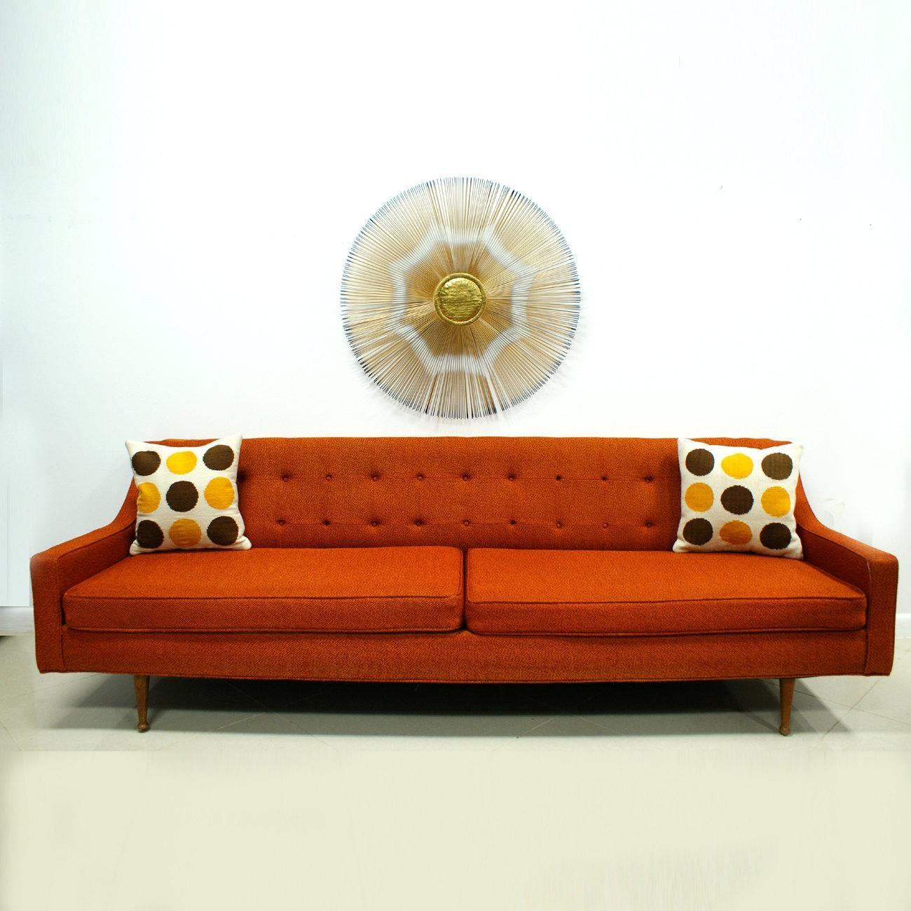 Orange Modern Sofa With Design Ideas 22743 | Kengire Pertaining To Orange Modern Sofas (Image 17 of 20)