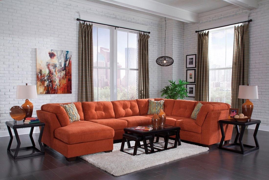 Orange Sectional Sofa With Concept Hd Gallery 7113 | Kengire For Orange Sectional Sofas (Image 19 of 20)