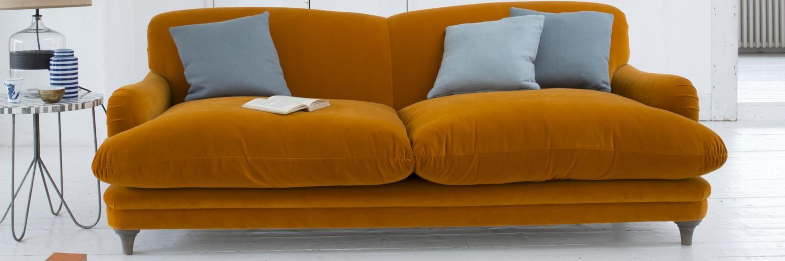 Orange Sofas – Home Design Ideas And Pictures For Burnt Orange Sofas (Image 9 of 20)
