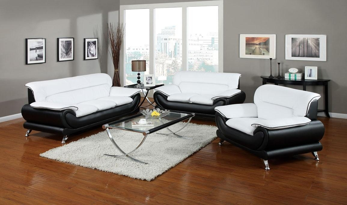 Featured Photo of Black And White Sofas And Loveseats