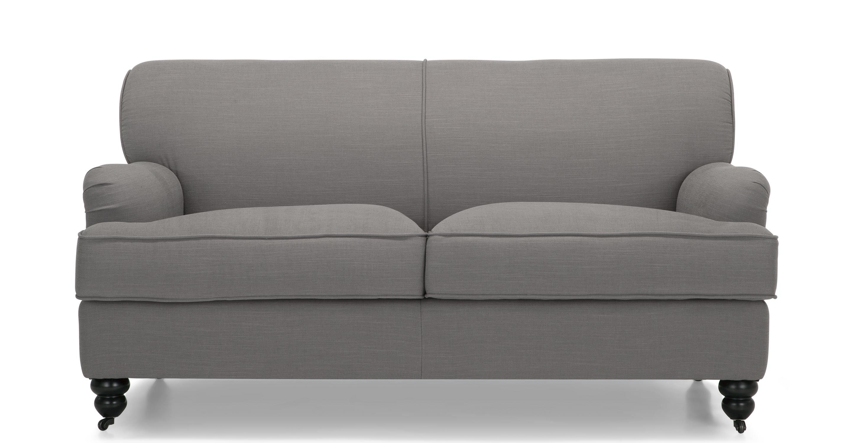 Orson 2 Seater Sofa, Graphite Grey | Made Pertaining To Two Seater Sofas (View 6 of 20)