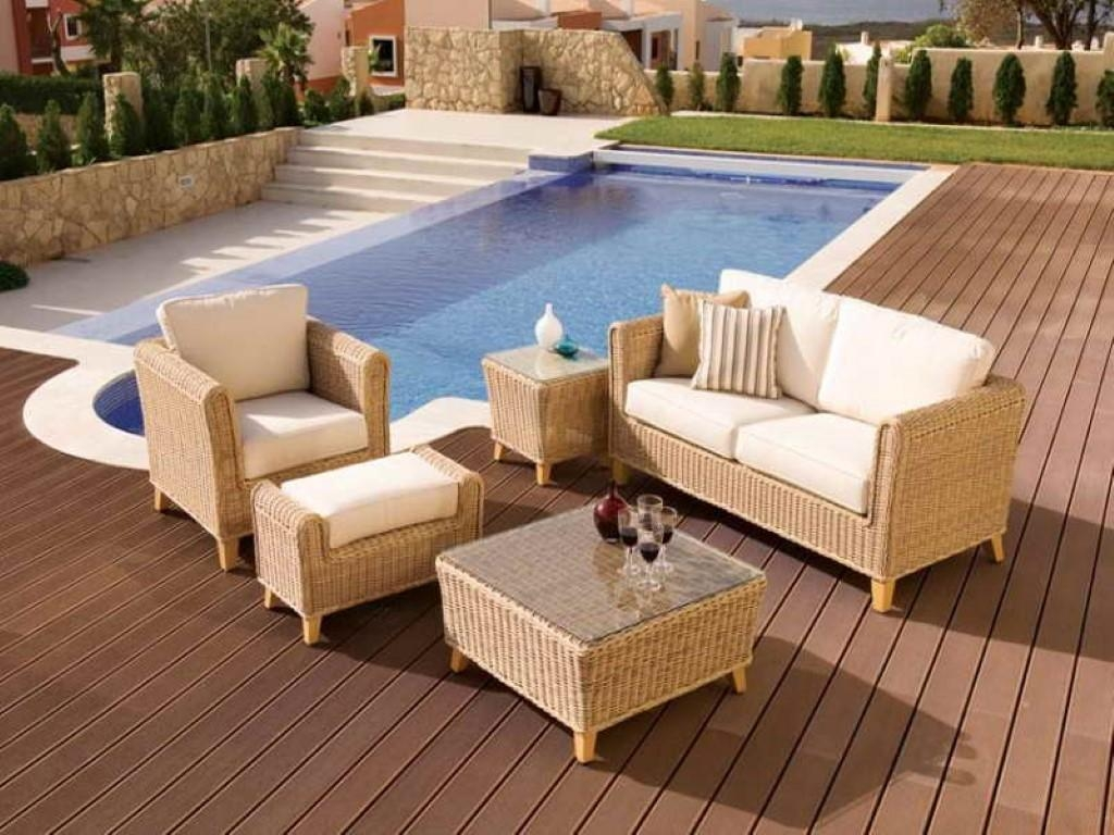 Outdoor Pool Furniture Sets Wicker | Home Furniture Regarding Cane Sofas (Image 15 of 20)