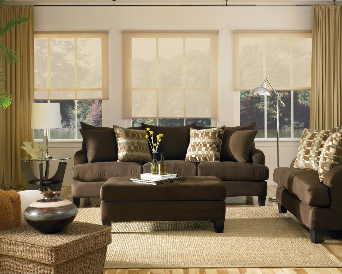 Outstanding Living Room Ideas Brown Sofa Color Walls With To Go With Brown Sofa Decors (Image 20 of 20)