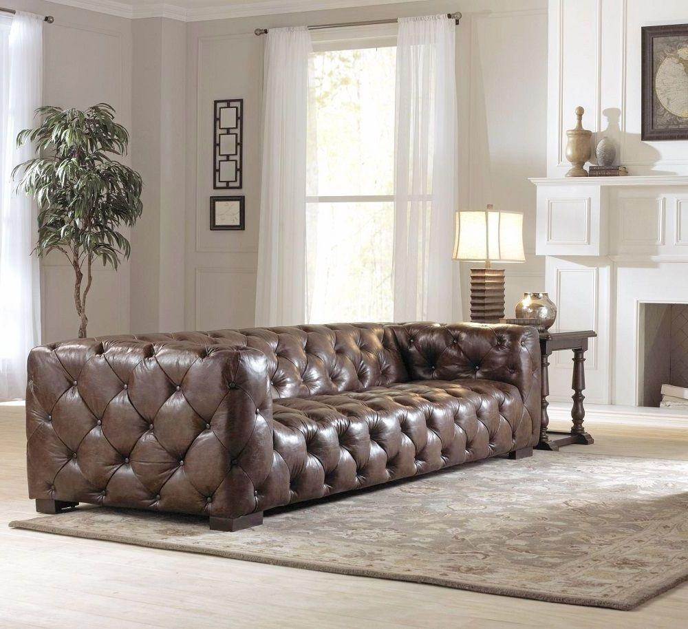 Oversized Brown Leather Tufted Sofa Button Tufted Design Solid For Brown Leather Tufted Sofas (Image 14 of 20)
