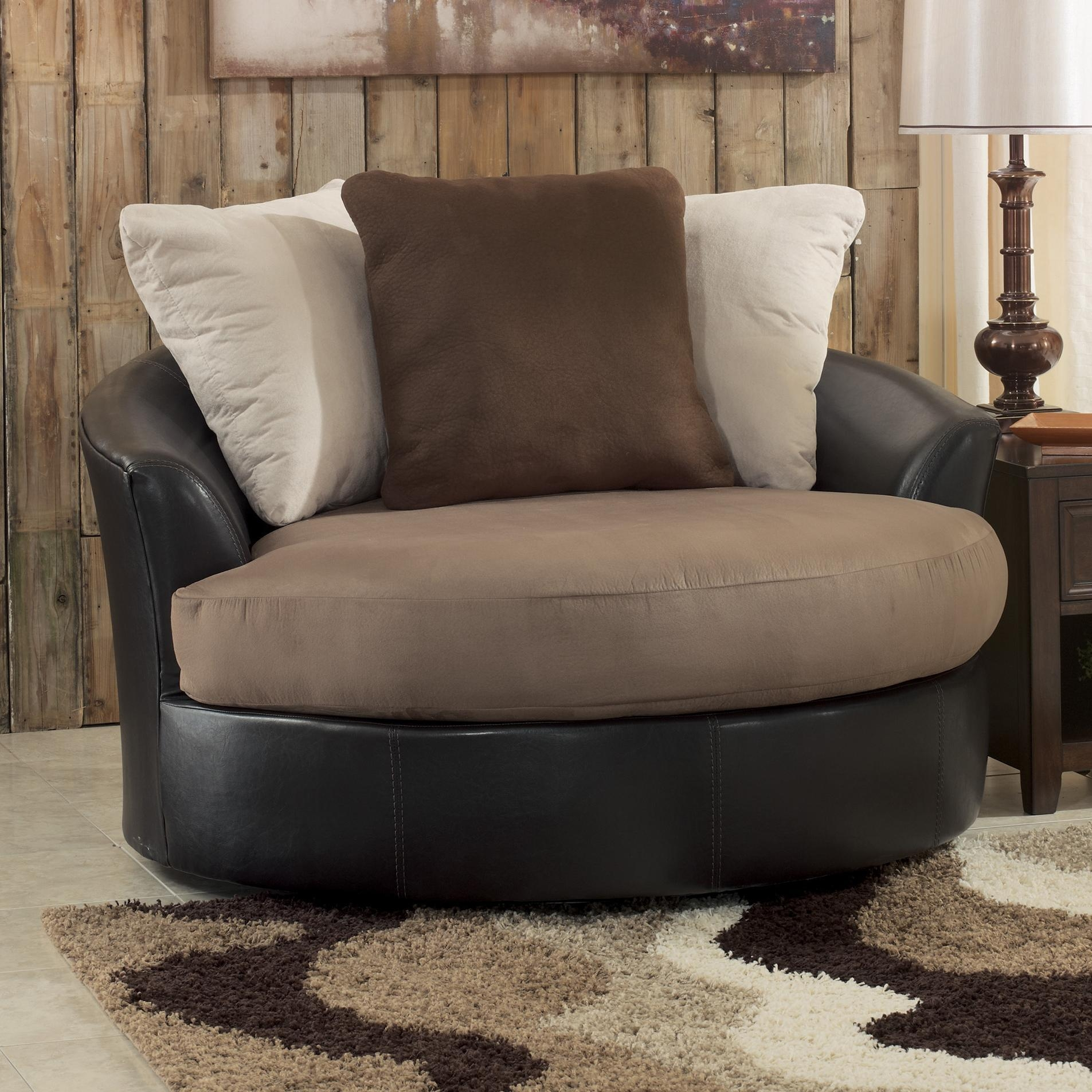 Oversized Chairs For Living Room Living Room Design And Living Within Round Swivel Sofa Chairs (Image 6 of 20)