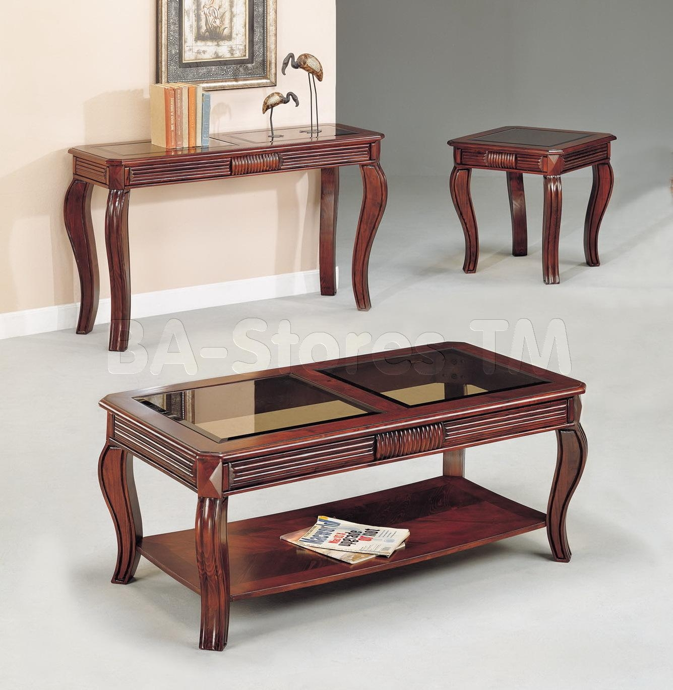 Overture Cherry Sofa Table | Coffee Tables Af 06153/9 Regarding Sofa Table Chairs (Image 14 of 20)