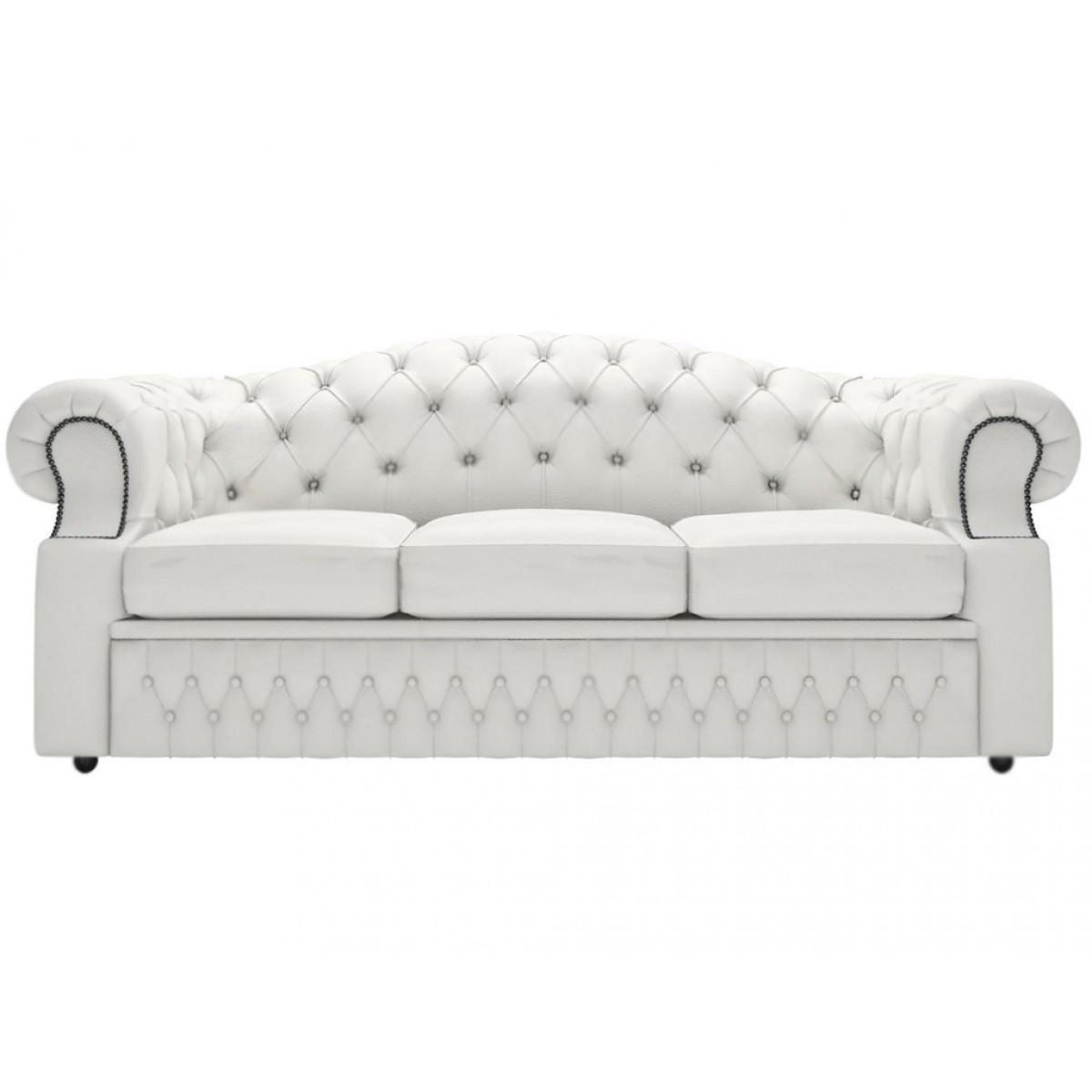 Oxford Genuine Leather Shelly White 3 Seater Sofa Throughout Oxford Sofas (View 20 of 20)