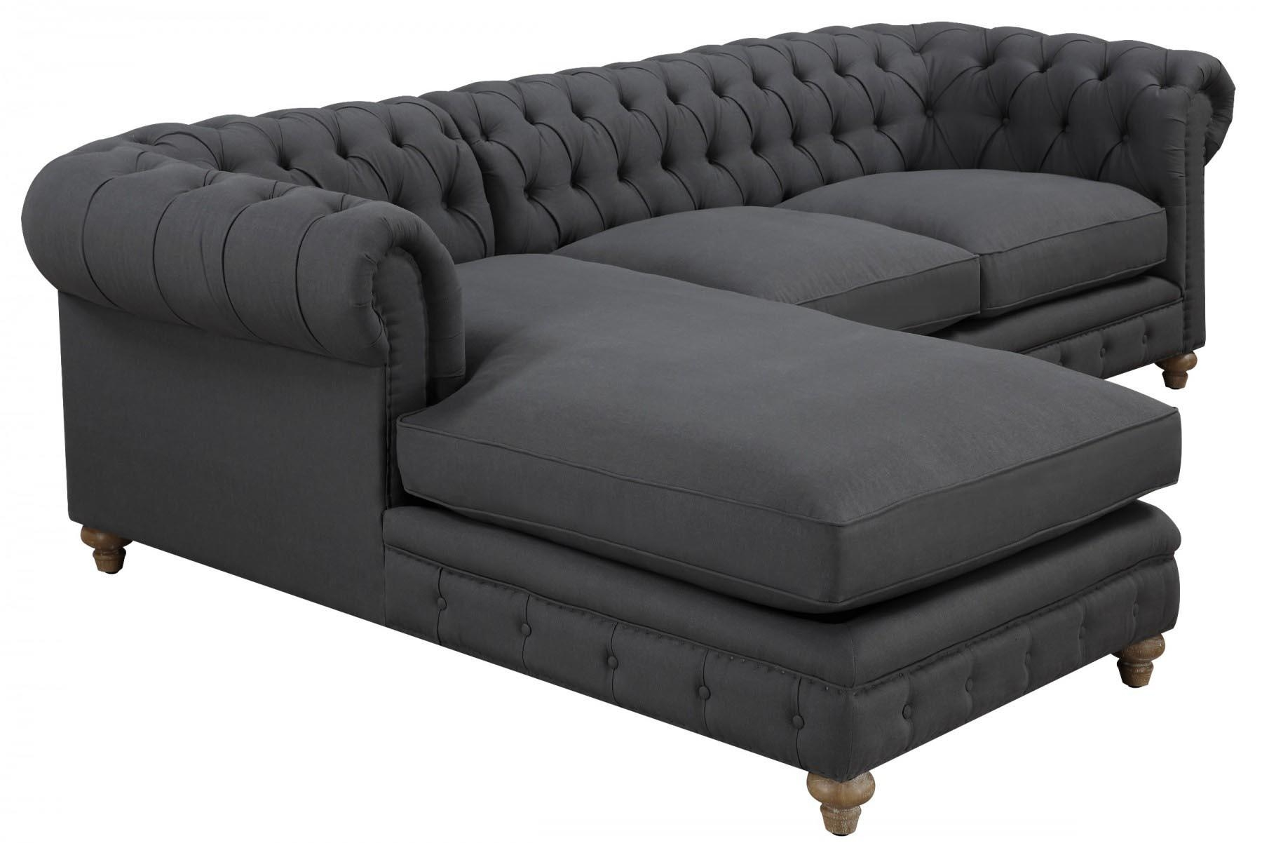Oxford Grey Linen Sectional Sofa, Tov Furniture – Modern Manhattan Intended For Oxford Sofas (View 16 of 20)