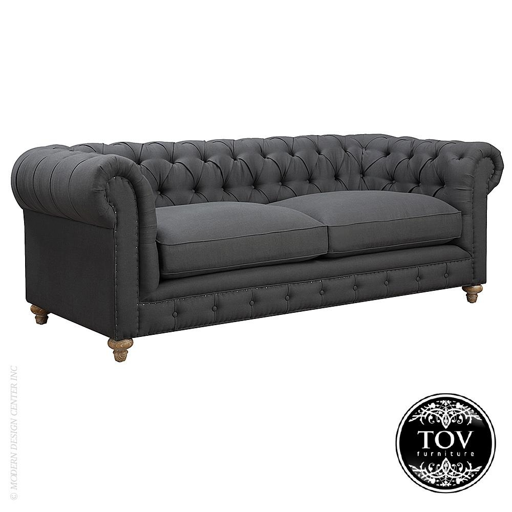 Oxford Grey Linen Sofa | Tov Furniture | Metropolitandecor Throughout Oxford Sofas (View 15 of 20)