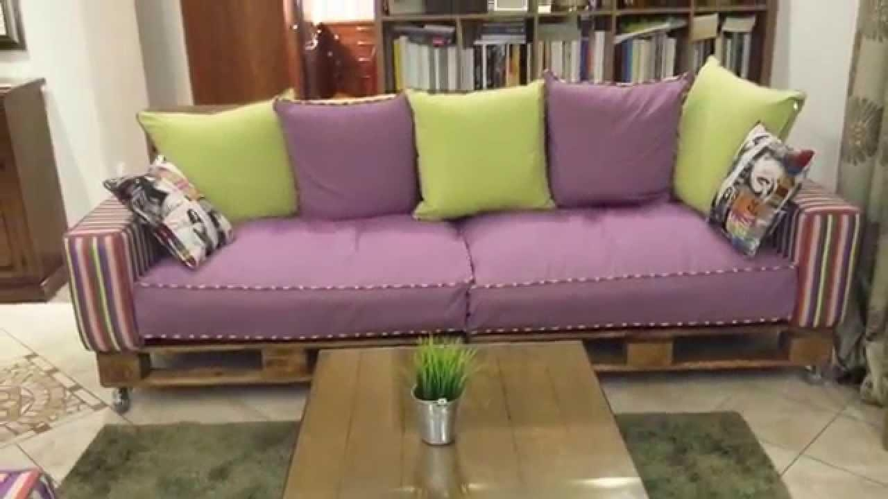 Pallet Sofa – Youtube Inside Pallet Sofas (Image 16 of 20)