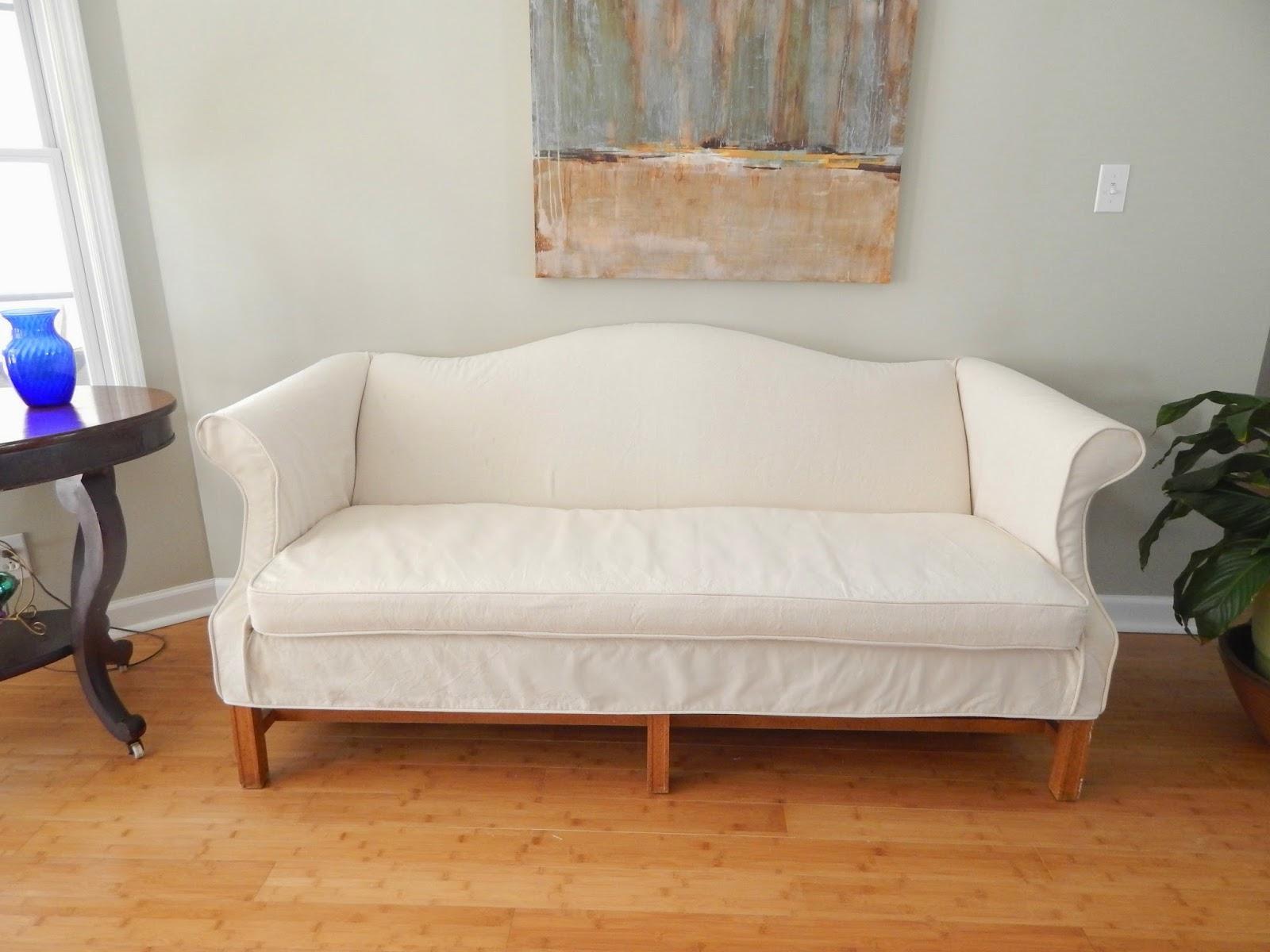 Pam Morris Sews: Slipcovers Regarding Canvas Sofa Slipcovers (Image 15 of 20)