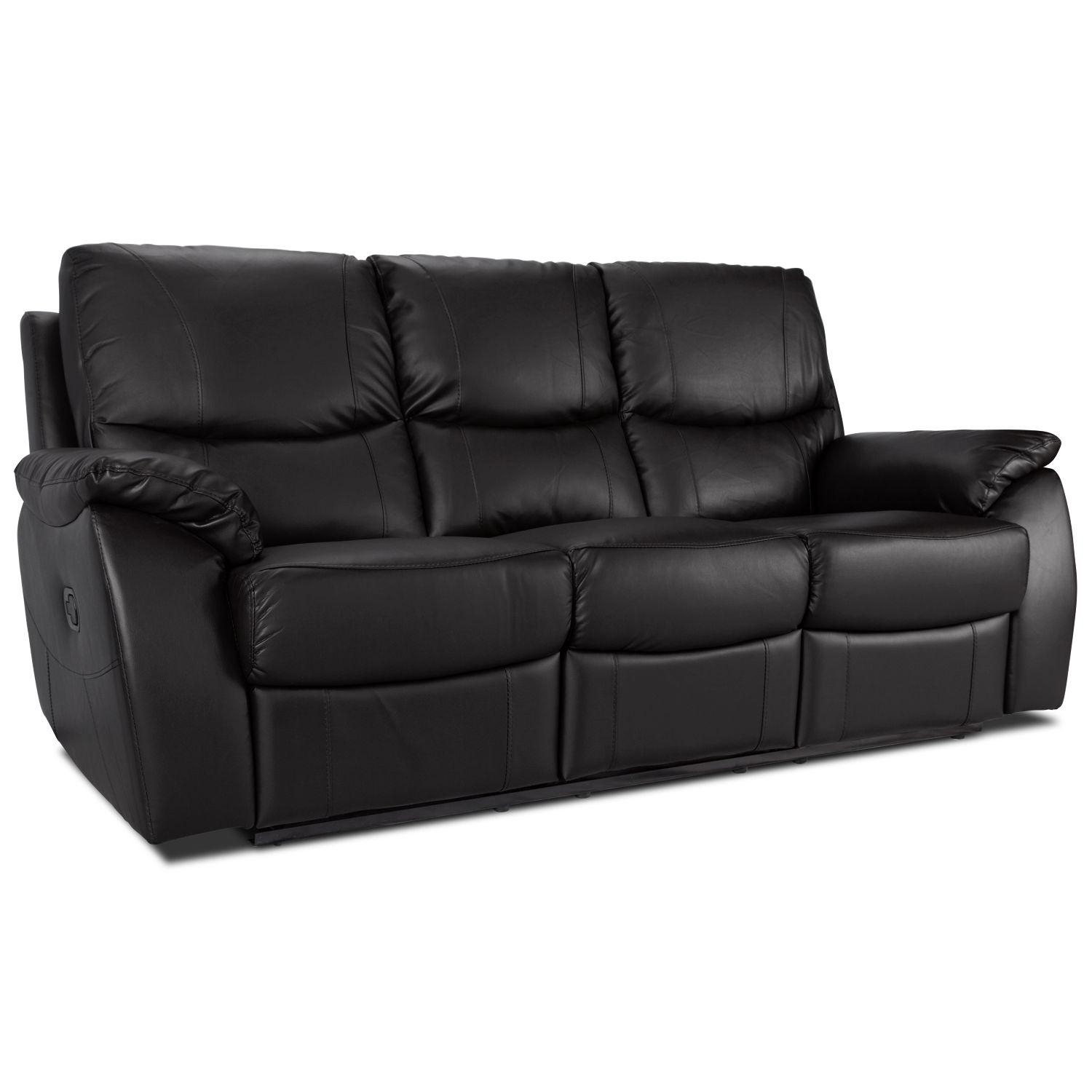 Panther 3 Seater Leather Recliner Sofa – Next Day Delivery Panther With Regard To 3 Seater Leather Sofas (View 6 of 20)