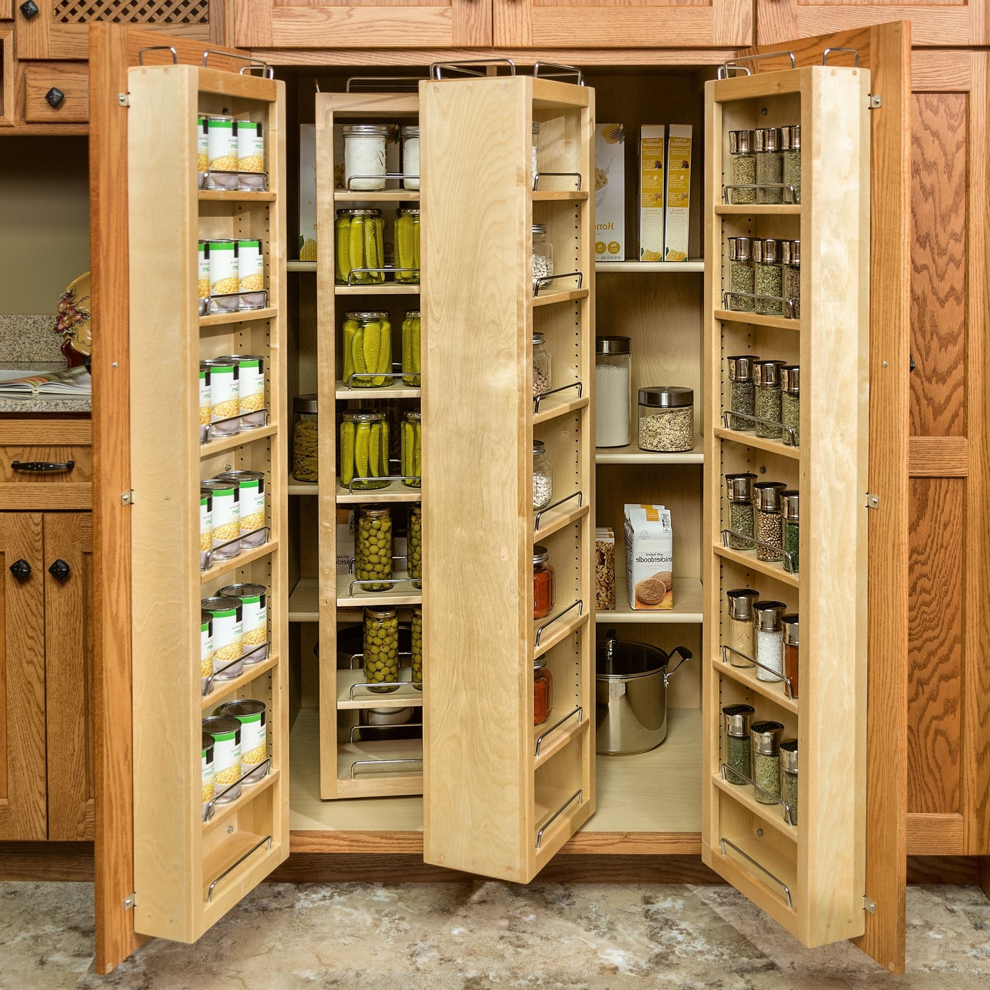 Pantry And Food Storage | Storage Solutions | Custom Wood Products Pertaining To Pantry Cabinets To Utilize Your Kitchen (View 8 of 17)
