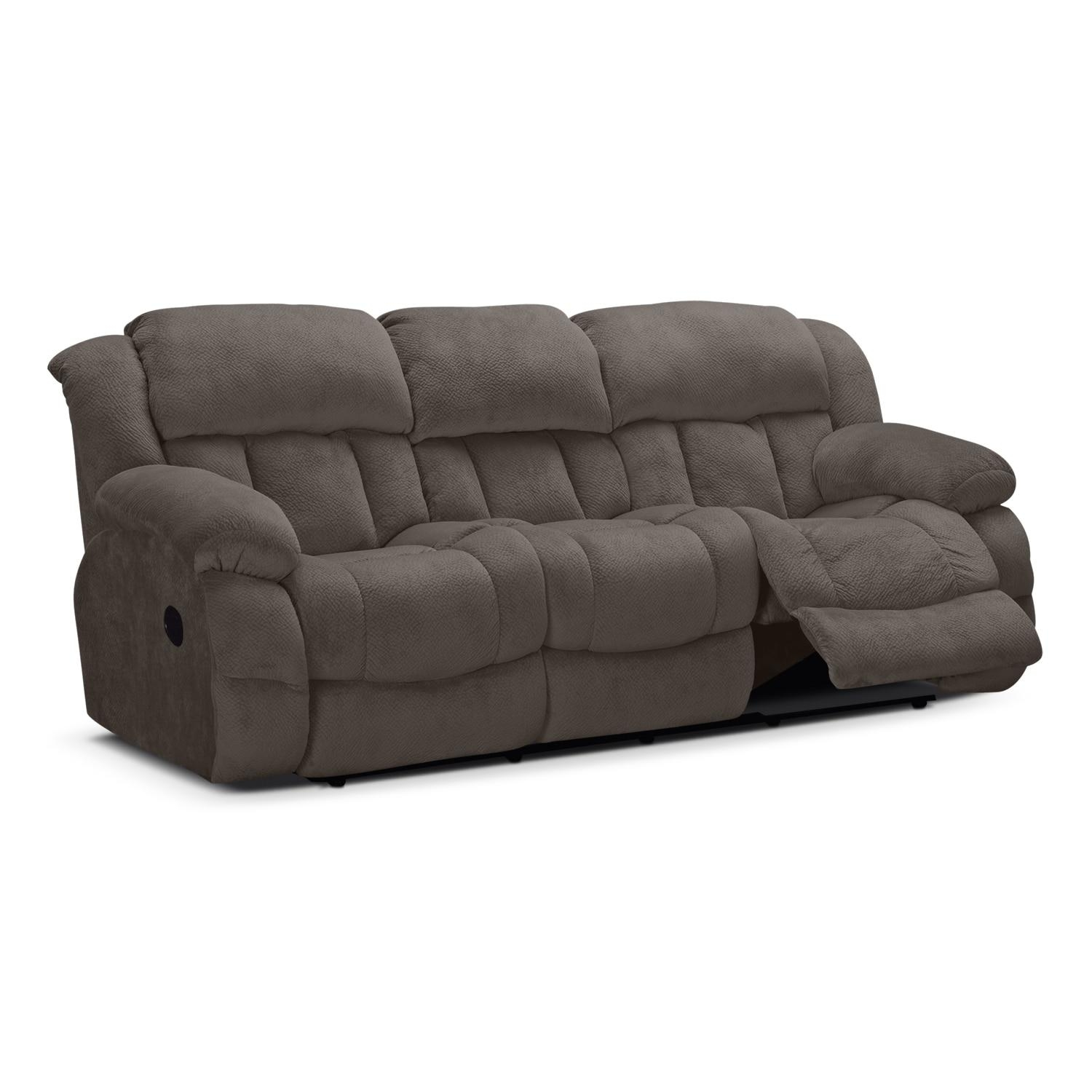 Park City Dual Reclining Sofa – Gray | Value City Furniture Pertaining To Recliner Sofa Chairs (Image 19 of 20)