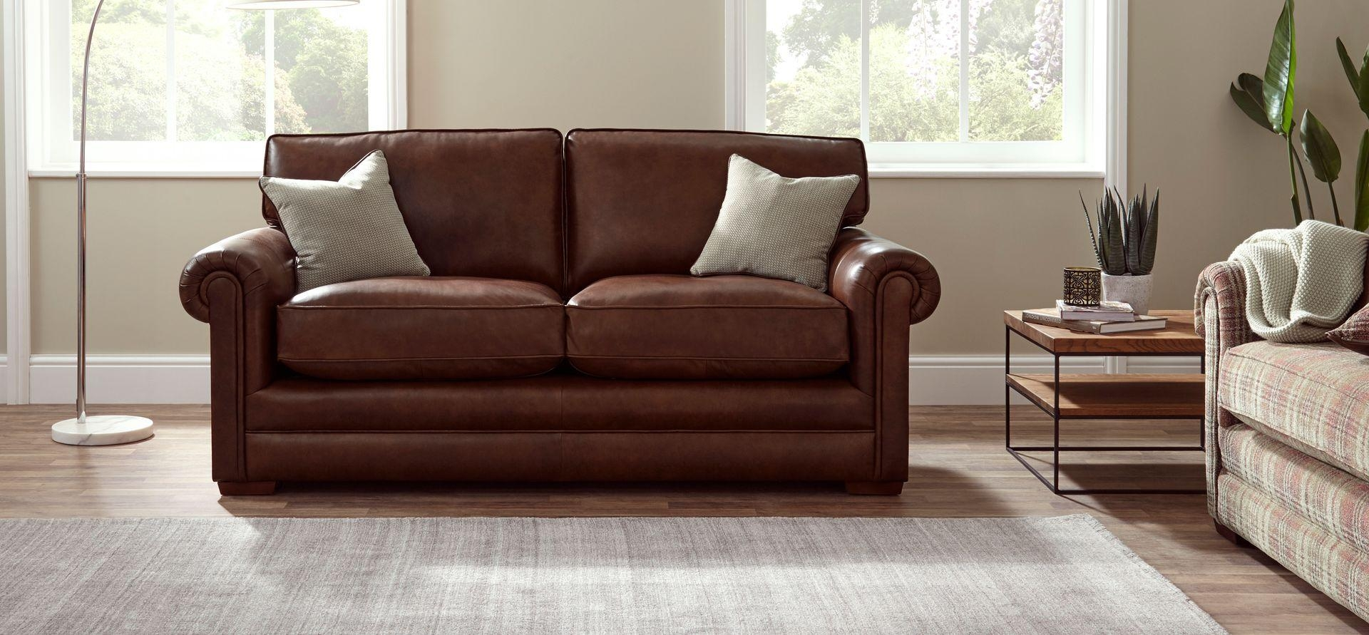 Parker Knoll Canterbury Large 2 Seater Leather Sofa | House Of Pertaining To Canterbury Leather Sofas (View 20 of 20)