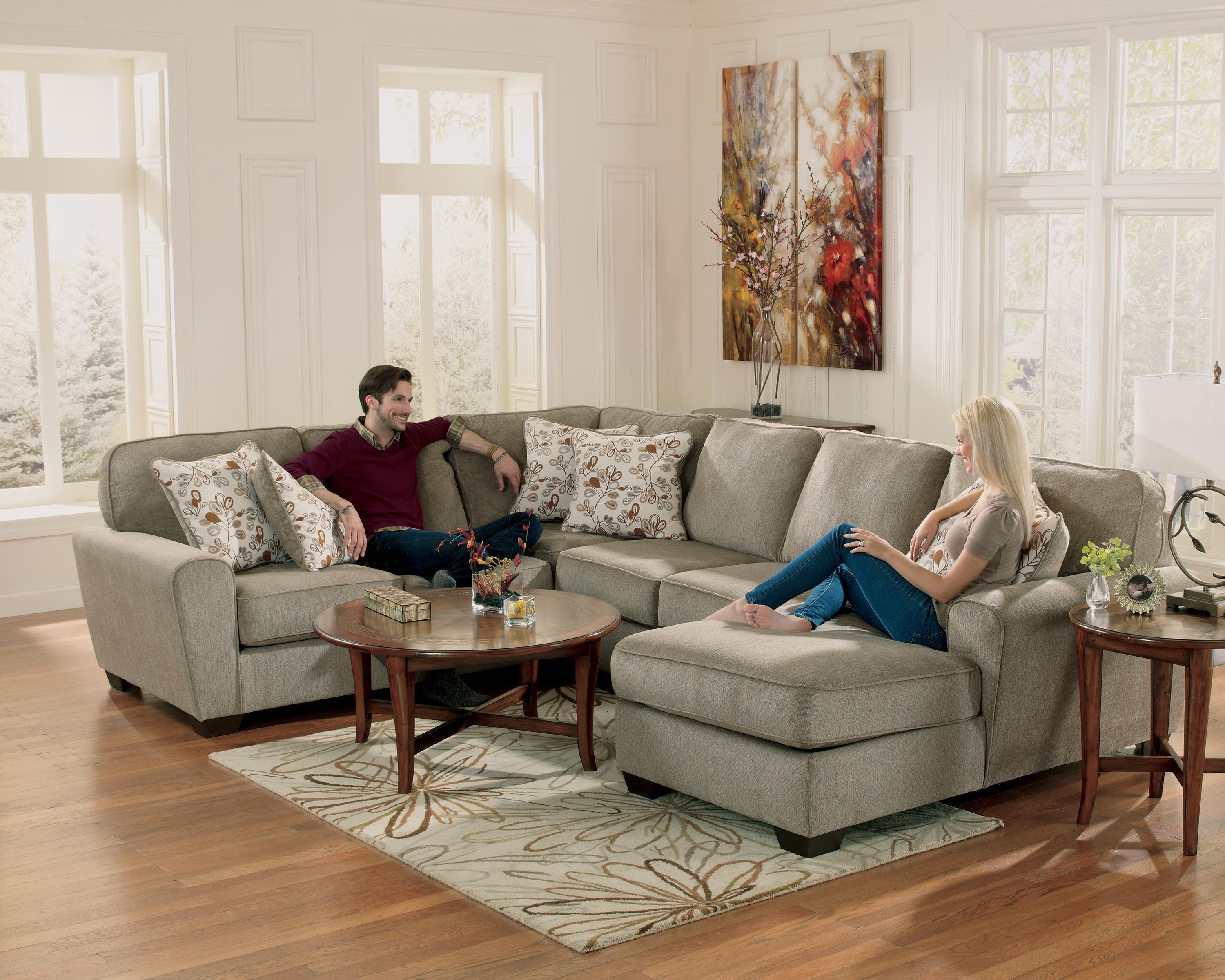 Patina 4 Piece Small Sectional With Right Cuddler – Rotmans – Sofa Intended For Small 2 Piece Sectional (View 7 of 20)