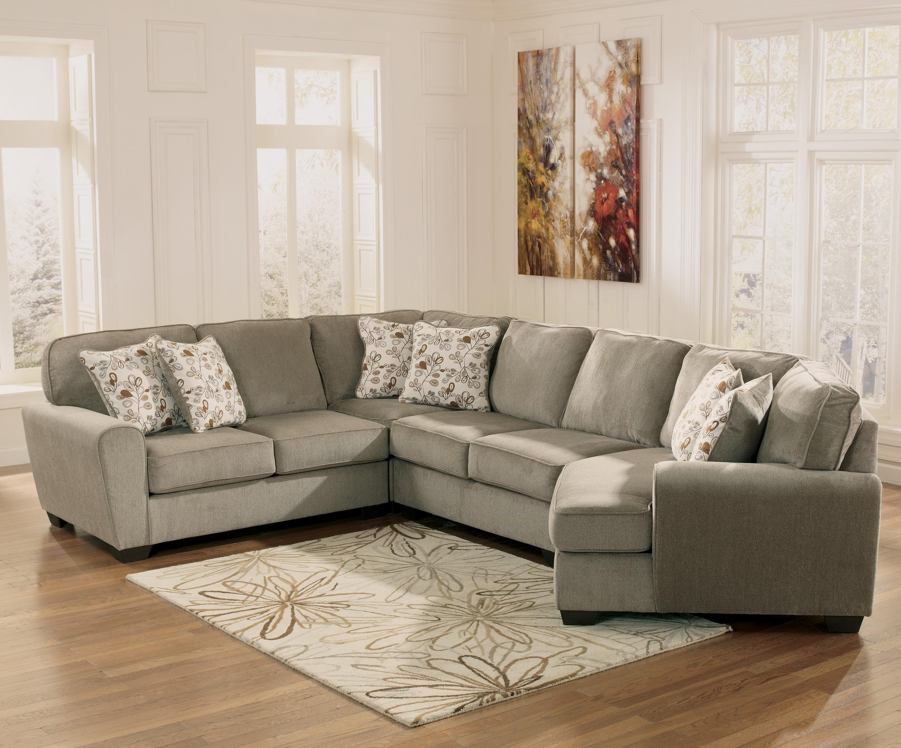 Patina 4 Piece Small Sectional With Right Cuddler – Rotmans – Sofa Pertaining To Sectional Cuddler (View 5 of 20)