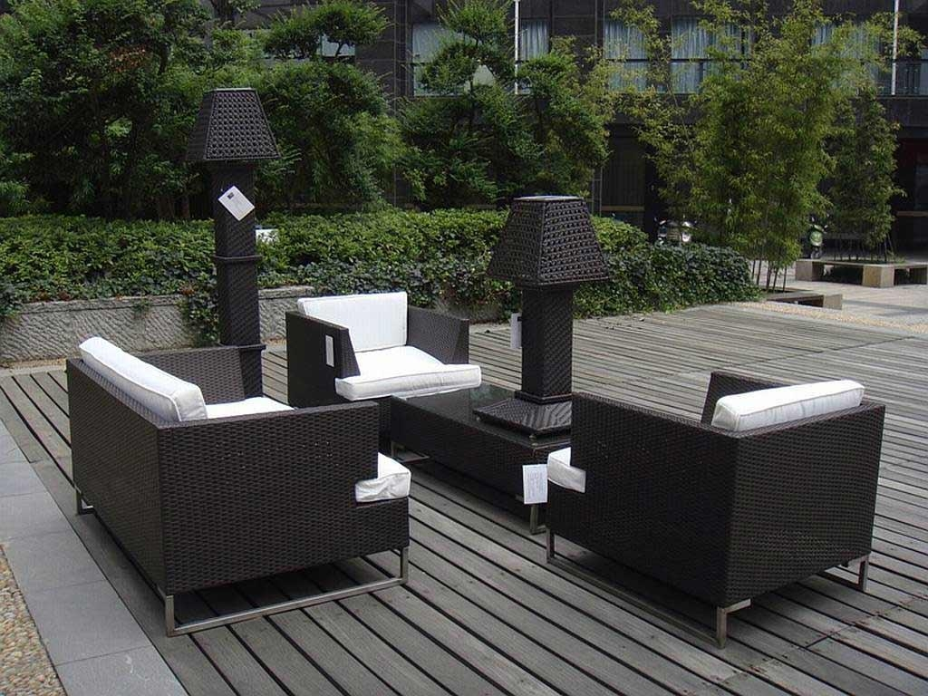 Patio: Outstanding Resin Wicker Patio Furniture Clearance Resin Inside Black Wicker Sofas (View 7 of 20)