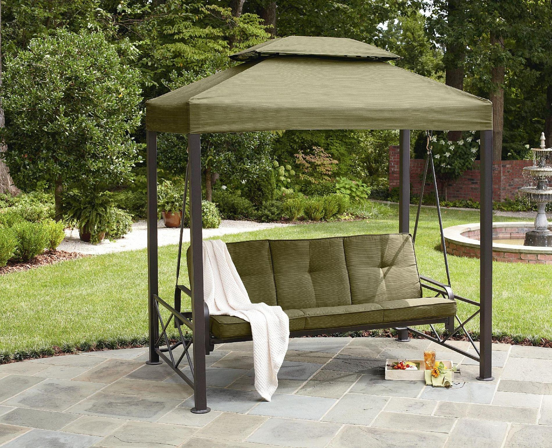 Patio Swing Canopy Cover Backyard And Outdoor Furniture Ideas With Outdoor Sofas With Canopy (View 5 of 20)