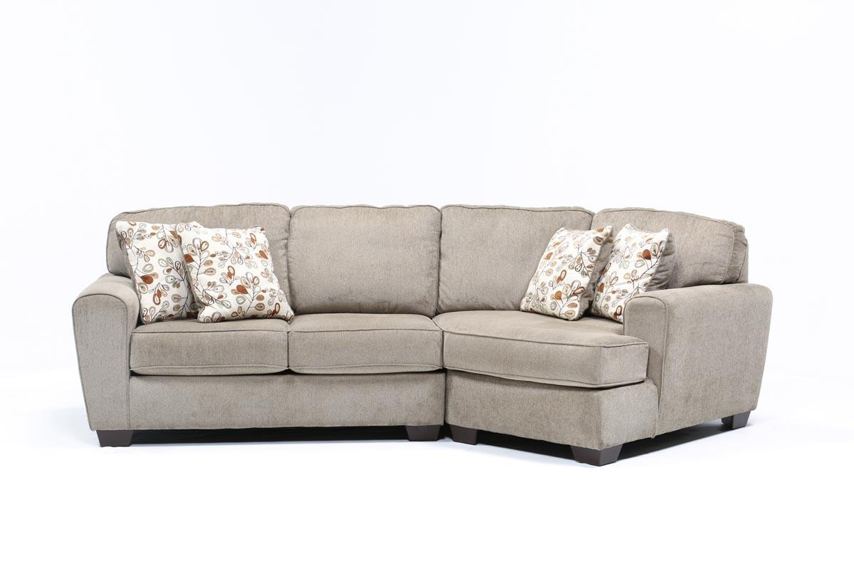 Patola Park 2 Piece Sectional W/raf Cuddler Chaise – Living Spaces Inside Sectional Cuddler (View 8 of 20)