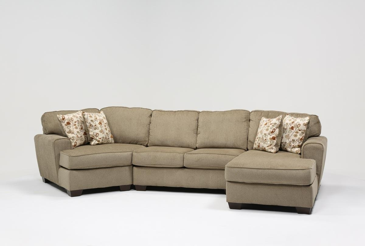 Patola Park 3 Piece Cuddler Sectional W/raf Cornr Chaise – Living In Cuddler Sectional Sofa (Image 13 of 15)