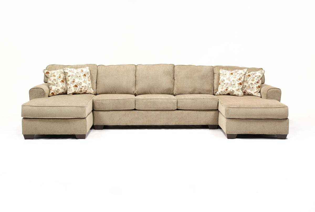 Patola Park 3 Piece Sectional W/2 Corner Chaises – Living Spaces With Regard To Sectional With 2 Chaises (Image 10 of 20)