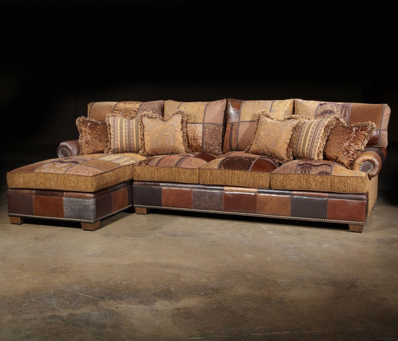 Paul Robert Choices Patched Western Sectional Sofa In Traditional Within Traditional Sectional Sofas (Image 7 of 20)