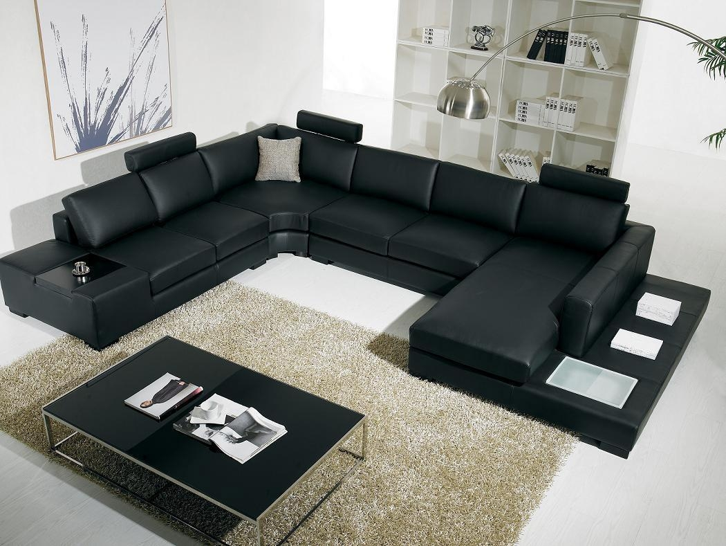 Perfect Leather Living Room Furniture Gray Unique Sofa Design Inside Living Room Sofas (Image 17 of 20)