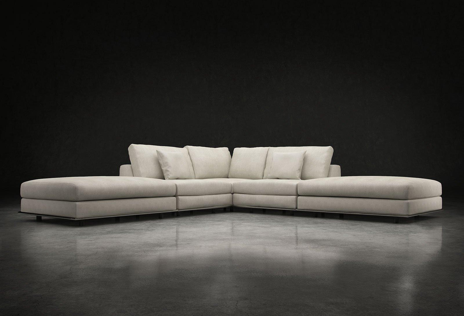 Perry Armless Corner Sectional Sofa Moonbeammodloft In Armless Sectional Sofas (Image 10 of 15)