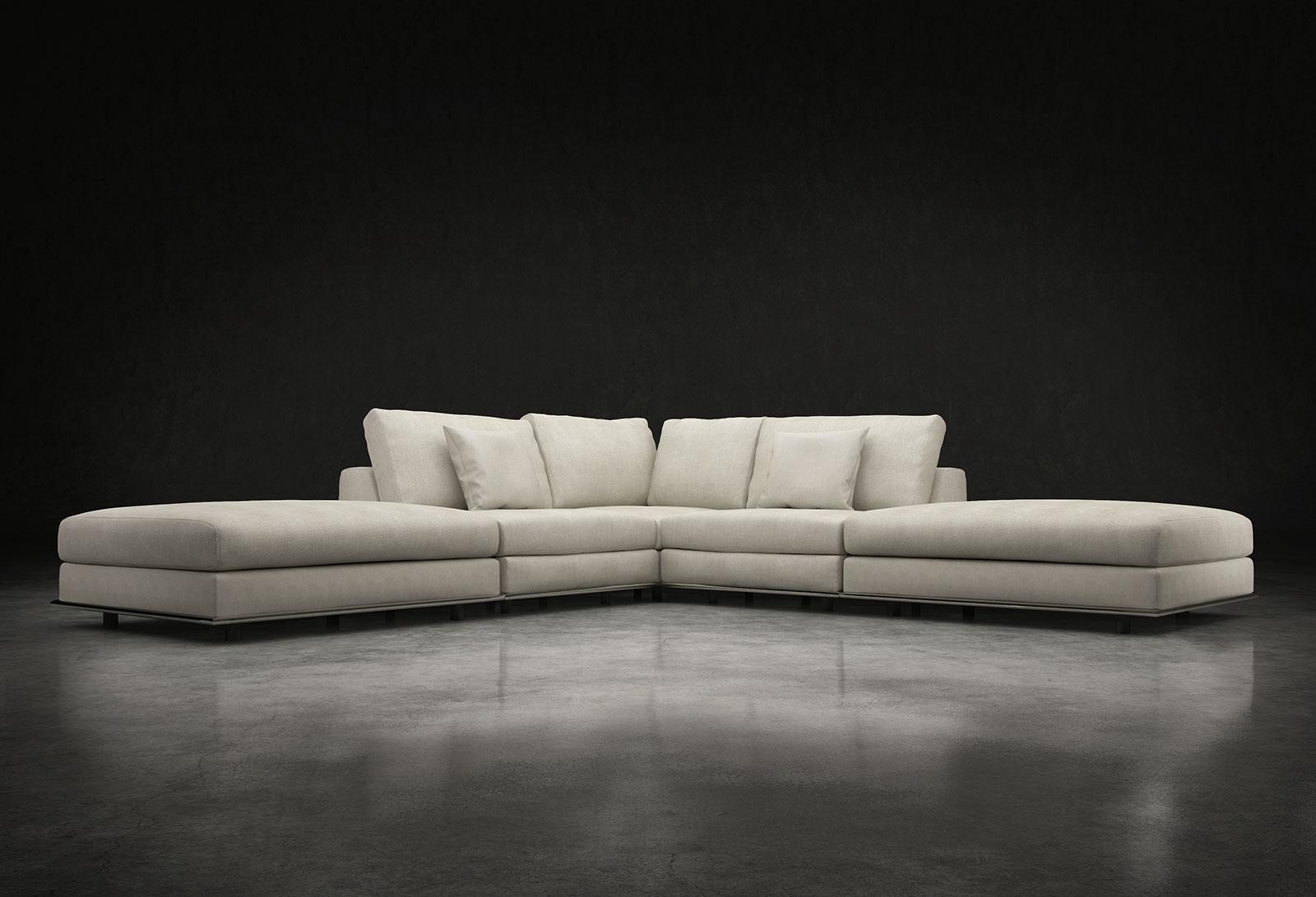 Perry Armless Corner Sectional Sofa Moonbeammodloft Inside Armless Sectional Sofa (Image 8 of 15)