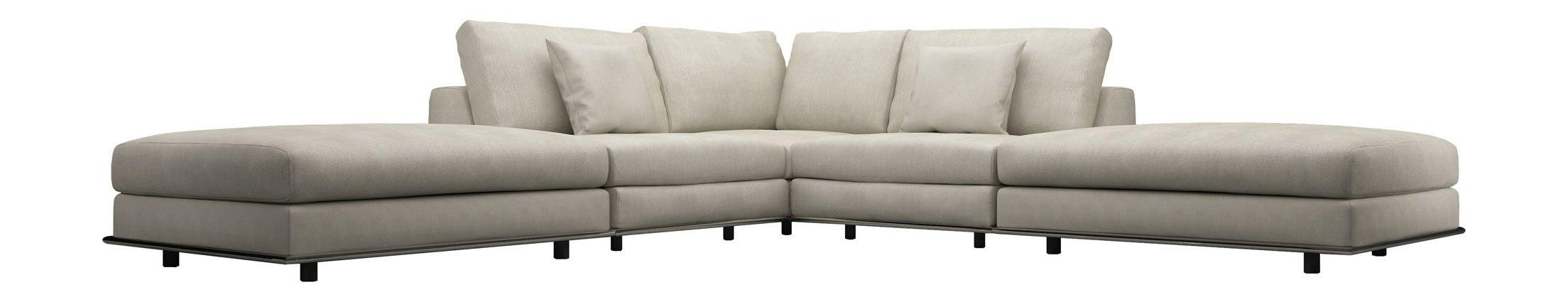 Perry Armless Corner Sectional Sofa Moonbeammodloft Pertaining To Armless Sectional Sofa (Image 10 of 15)
