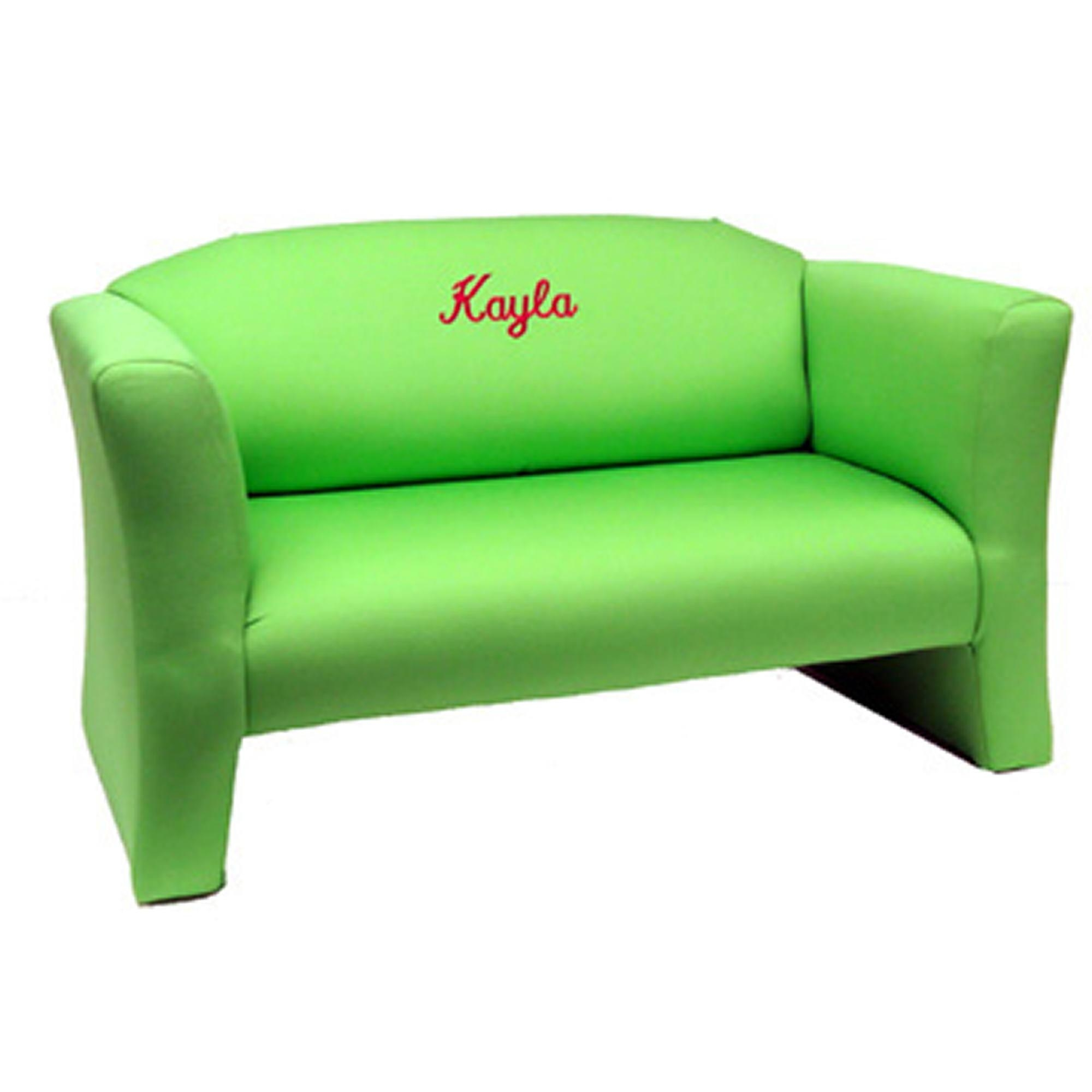 Personalized Kid's Queen Anne Sofa | Kids Couches In Personalized Kids Chairs And Sofas (Image 5 of 20)