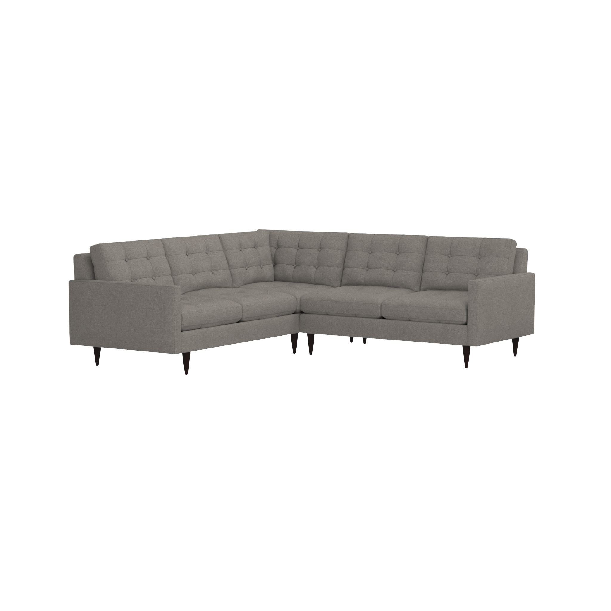 Petrie 2 Piece Corner Sectional Sofa | Crate And Barrel With Regard To Sectional Crate And Barrel (Image 15 of 20)