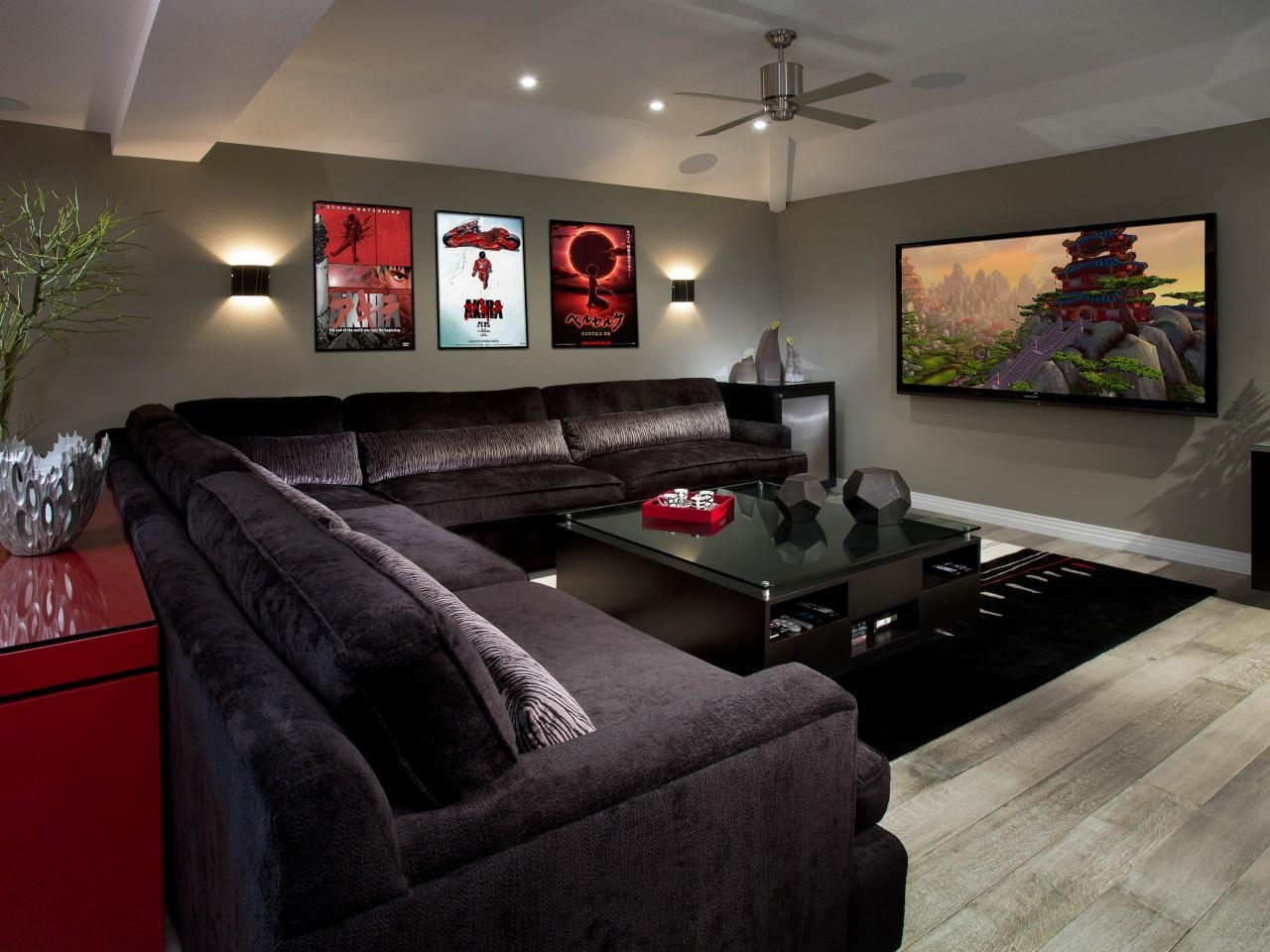 Photo Page | Hgtv Pertaining To Media Room Sectional (View 10 of 20)