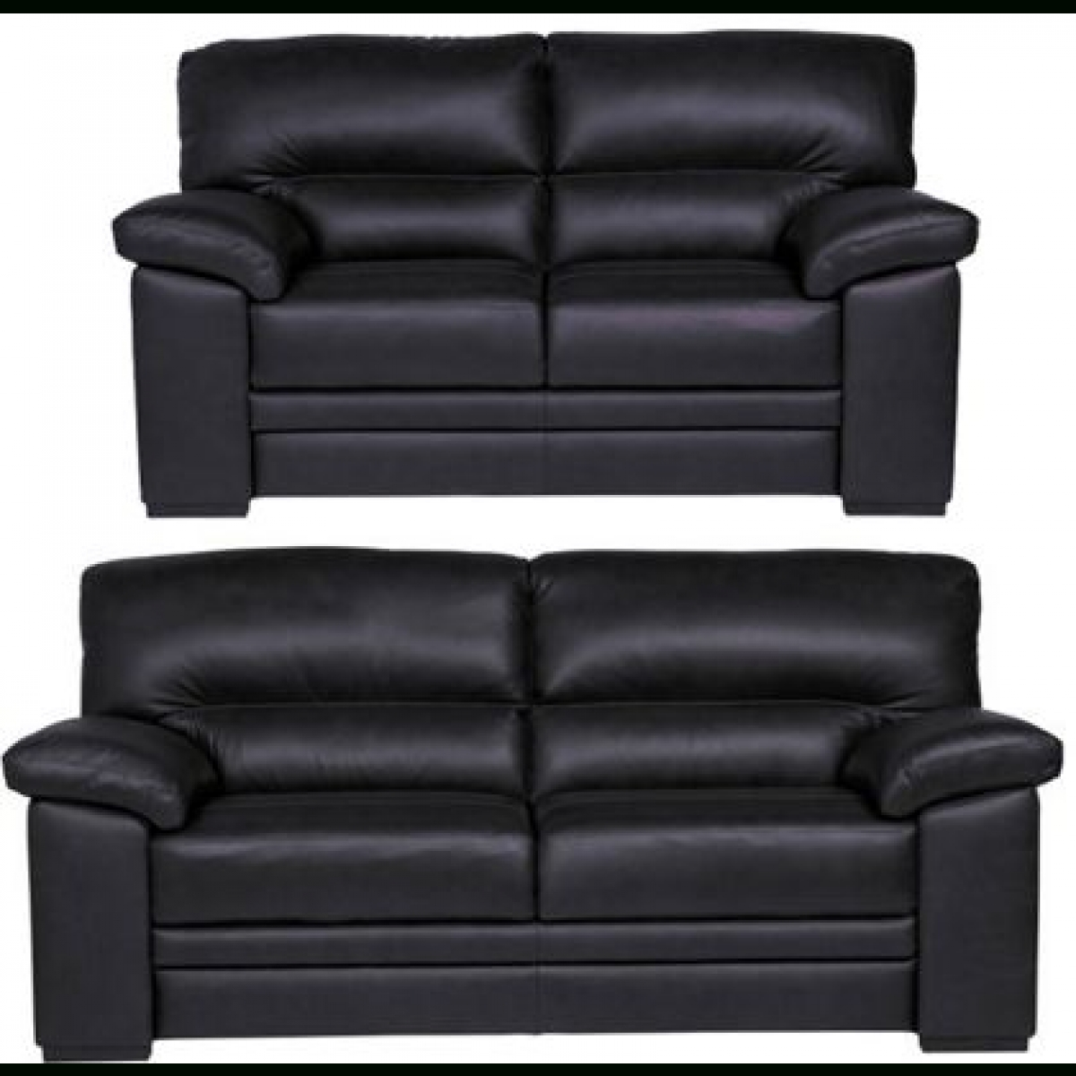 Piacenza 3 Seater And 2 Seater Sofa – Black – Furnico Village Pertaining To Black 2 Seater Sofas (View 18 of 20)